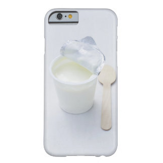 Yoghurt in opened disposable cup barely there iPhone 6 case
