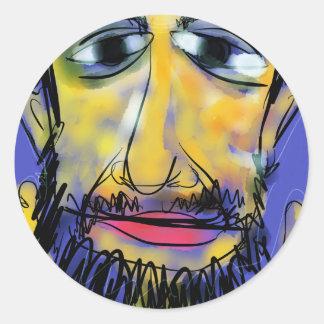 Yogi Aaron Classic Round Sticker