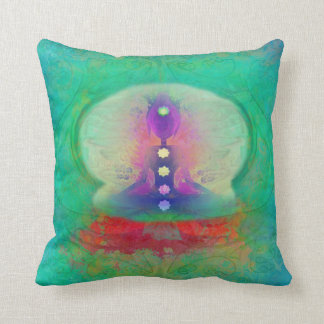 Yogi alien yoga chakra shamanism chakras abstrakt throw pillow