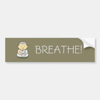 "Yogi ""Breathe"" bumper sticker"