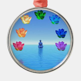 Yogi chakra by healing love christmas ornament