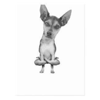 Yogi Doggie cute dog in yoga asana, cool funny Postcard