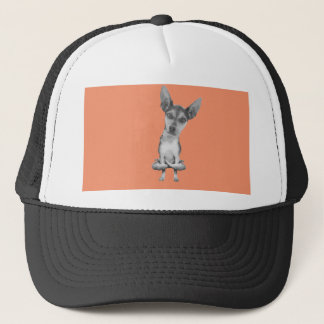 Yogi Doggie cute dog in yoga asana, cool funny Trucker Hat