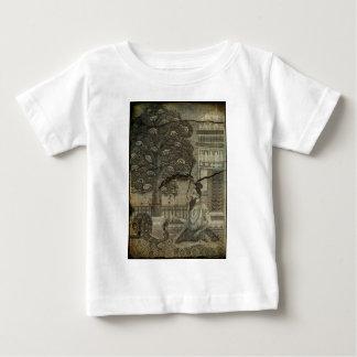 Yogi Feeding Peacock 1743 Engraving Enhanced Baby T-Shirt