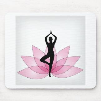 yogi in pink lotus mousepad