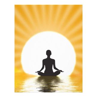 Yogi meditating letterhead