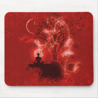 Yogi meditating mouse pad