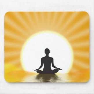 Yogi meditating mousepad