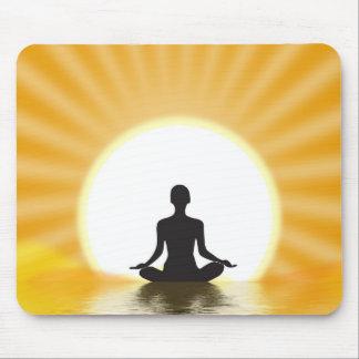 Yogi meditating mouse pads