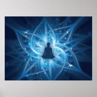 Yogi meditating poster