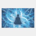 Yogi meditating rectangular sticker