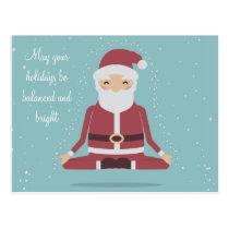 Yogi Santa - Personalized Christmas Postcard