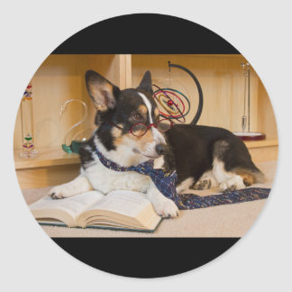 Yogi the Science Dog Classic Round Sticker
