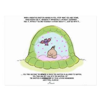 "Yogi Turtle- ""embracing your negative emotions"" Postcard"