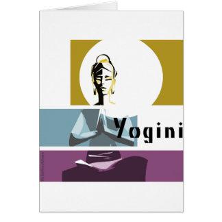 Yogi woman, yoga posture card