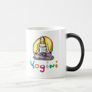 Yogini 11 Oz Magic Heat Color-Changing Coffee Mug