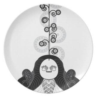 Yogui de la meditación plato de cena
