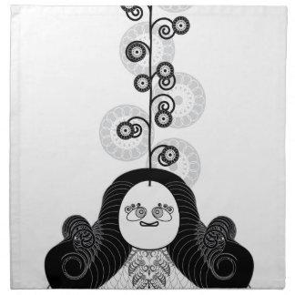Yogui de la meditación servilletas imprimidas