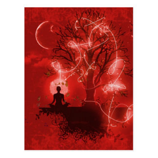 Yogui meditating tarjetas postales