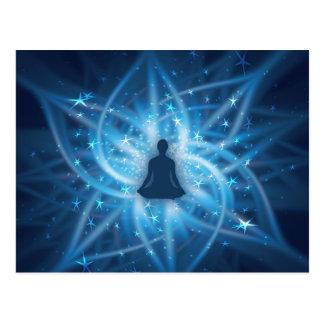 Yogui meditating postales