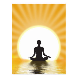 Yogui meditating tarjeta postal