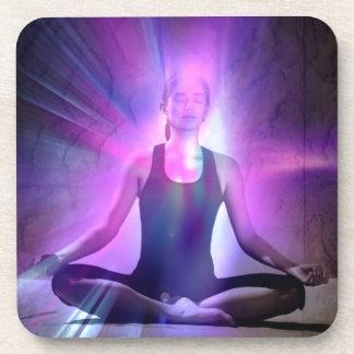 Yogui, yoga, chakra, aureola, chakras, energía, posavasos