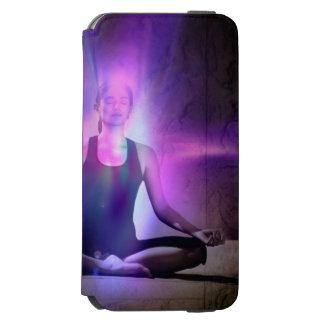 Yogui, yoga, chakra, aureola, chakras, energía, funda cartera para iPhone 6 watson
