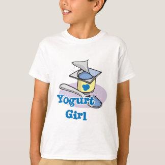 Yogur de arándano del chica del yogur playeras