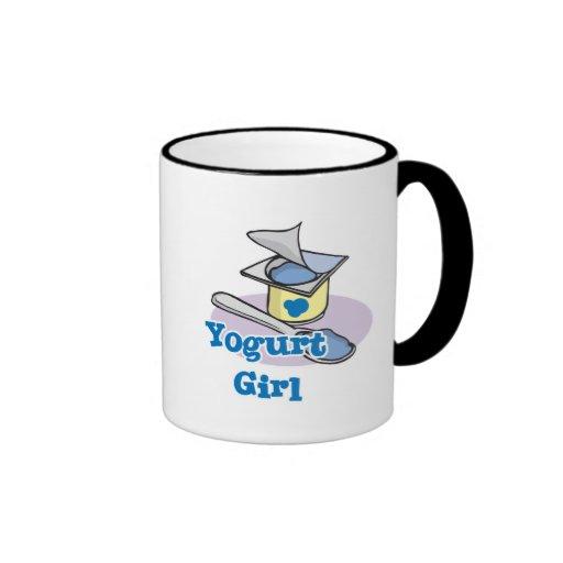 Yogur de arándano del chica del yogur taza a dos colores