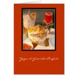 Yogur-Granola-Postre helado Tarjeta De Felicitación