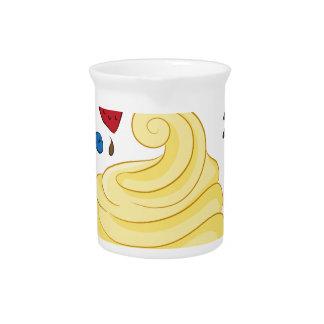 Yogurt congelado con los desmoches jarra