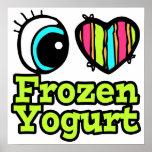 Yogurt congelado del ojo del amor brillante del co poster