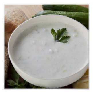 Yogurt Cucumber Soup Print