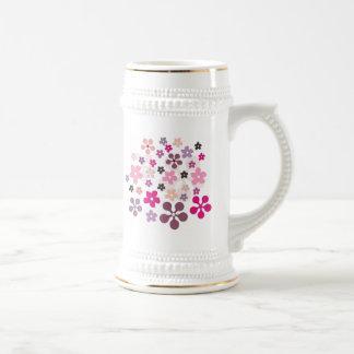 Yogurt Flowers Beer Stein