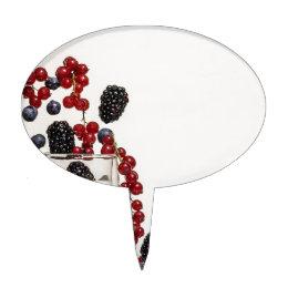yogurt fresh berries cake topper