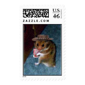 Yogurt Hamster Postage Stamps