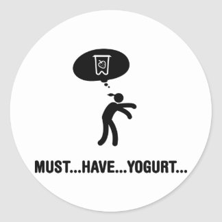 Yogurt Lover Round Sticker