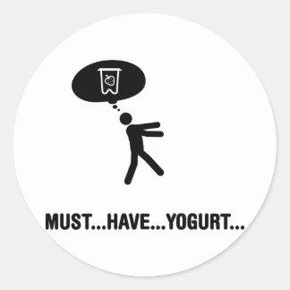 Yogurt Lover Round Stickers
