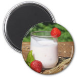 yogurt with fruit on a board 2 inch round magnet
