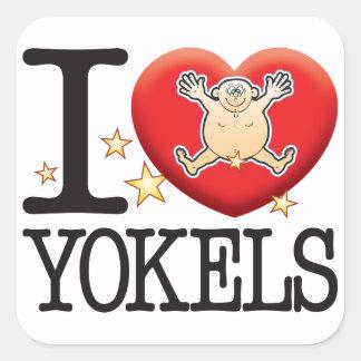 Yokals Love Man Square Sticker