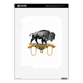yoked bison claim decal for iPad 3