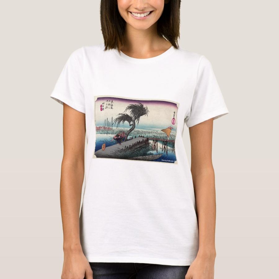 Yokkaichi - Hiroshige Ando - 1833 T-Shirt - Best Selling Long-Sleeve Street Fashion Shirt Designs
