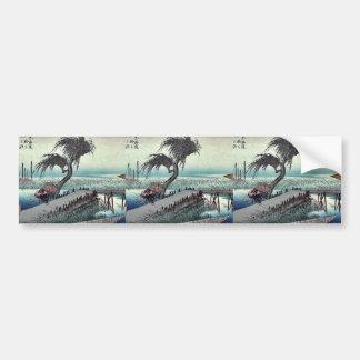 Yokkaichi por Ando, Hiroshige Ukiyoe Pegatina Para Auto