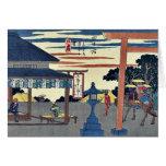 Yokkaichi por Ando, Hiroshige Ukiyoe Felicitacion