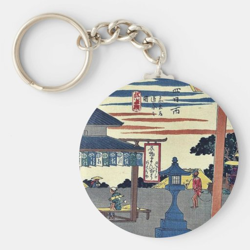 Yokkaichi por Ando, Hiroshige Ukiyoe Llaveros Personalizados