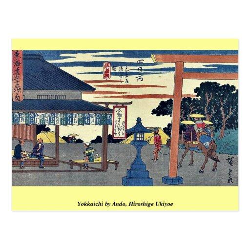 Yokkaichi por Ando, Hiroshige Ukiyoe Postales