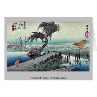 Yokkaichi por Ando, Hiroshige Ukiyoe Tarjeta De Felicitación