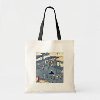 Yokkaichi por Utagawa, Hiroshige Ukiyoe Bolsa Tela Barata