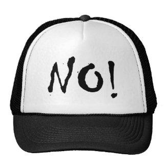 """¡Yoko dice no! """"NO!"""" Casquillo de los camioneros Gorro"""