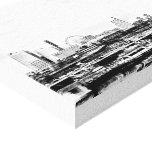 Yokohama en blanco y negro lona estirada galerias